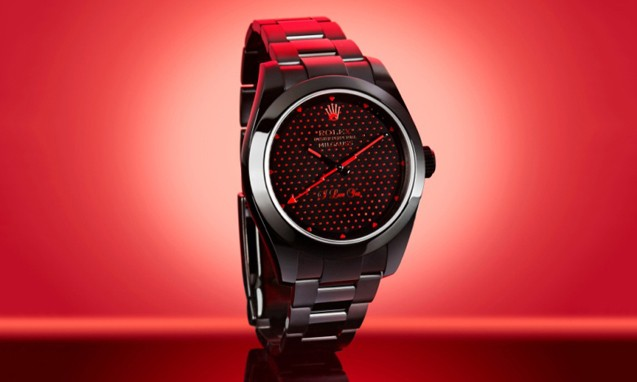 "Bamford Watch Department 打造 Rolex Milgauss "" I Love You "" 情人节腕表"