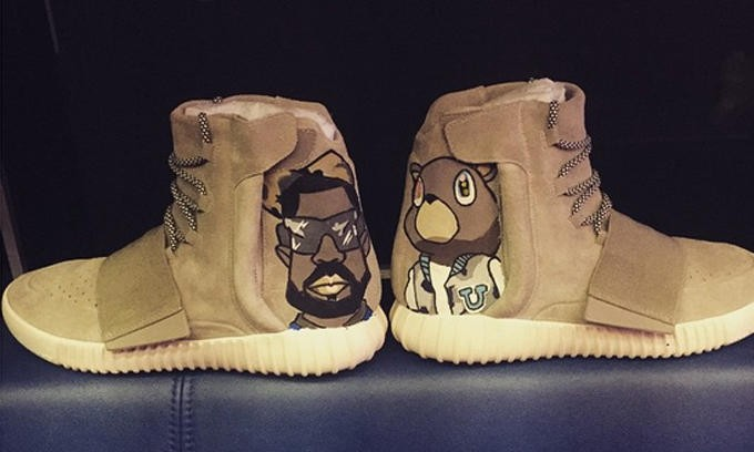 涂鸦爱好再延续,Chris Brown 展示定制 Yeezy 750 Boost