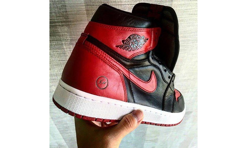 "恶搞的很逼真?fragment design x Air Jordan I ""Bred"" 配色现身"