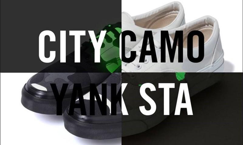 除了鲨鱼头卫衣外,还有一双带有 CITY CAMO 的夜光 YANK STA 将在本周发布
