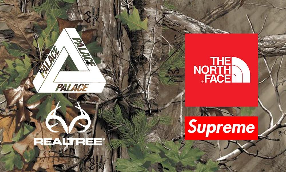 PALACE 新品用的迷彩,到底是不是抄了 Supreme x TNF 的树枝图案?