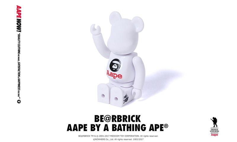 AAPE BY A BATHING APE® 携手 MEDICOM TOY 打造涩谷店一周年限定款 BE@RBRICK