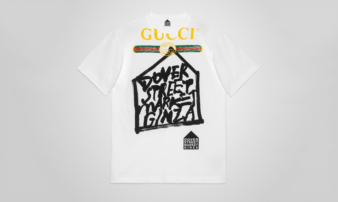 GUCCI 推出 Dover Street Market Ginza 5 周年限量 T-shirt 系列