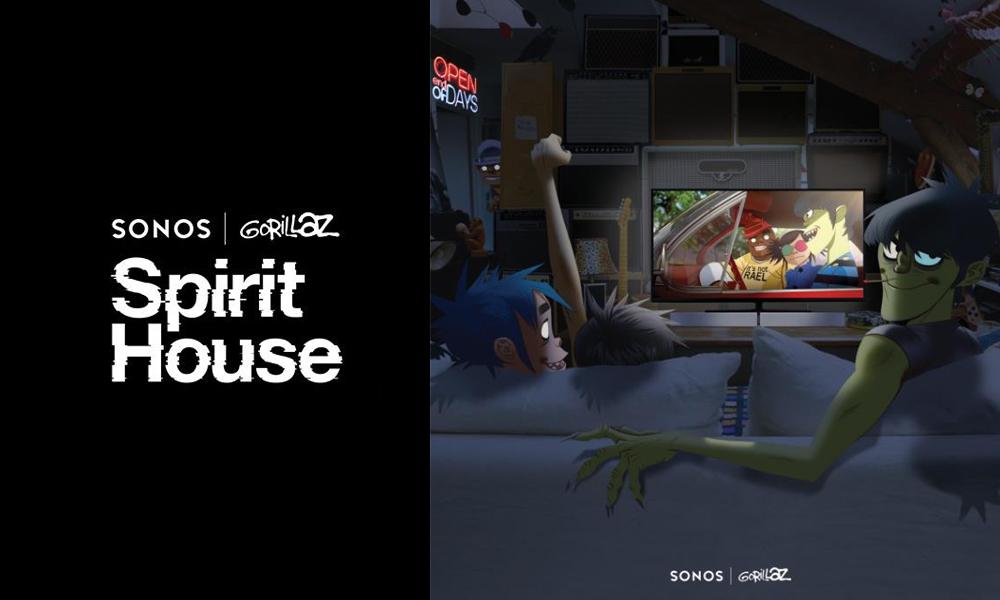 Sonos 携手 Gorillaz 乐队打造 Spirit House 带你走进沉浸式视听世界