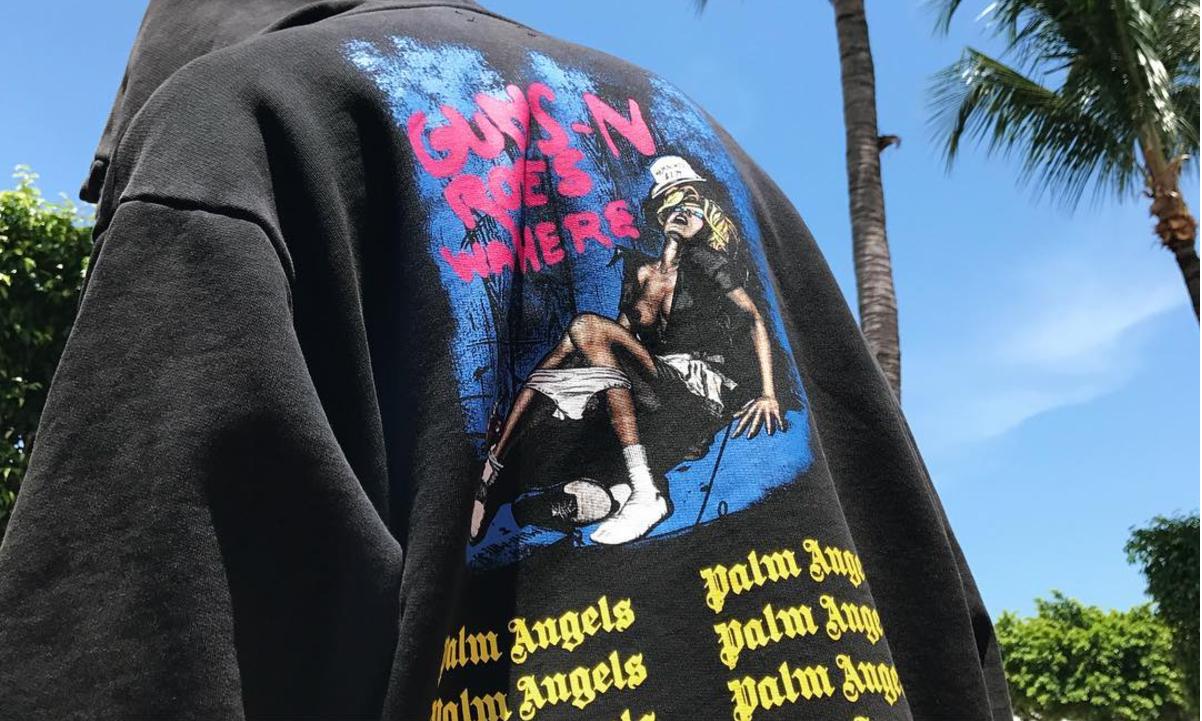 Palm Angels x Guns N' Roses 高级街头致敬摇滚文化