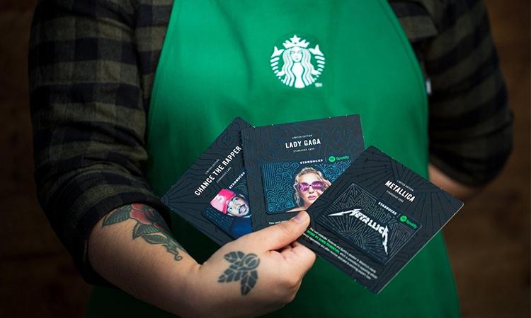 Starbucks 与 Spotify 合作,推出三款音乐人限量礼品卡