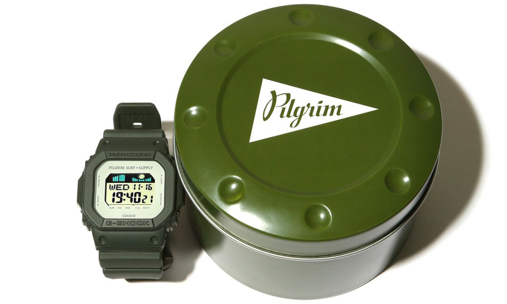 G-SHOCK x Pilgrim Surf+Supply 推出 GLX 5600 腕表