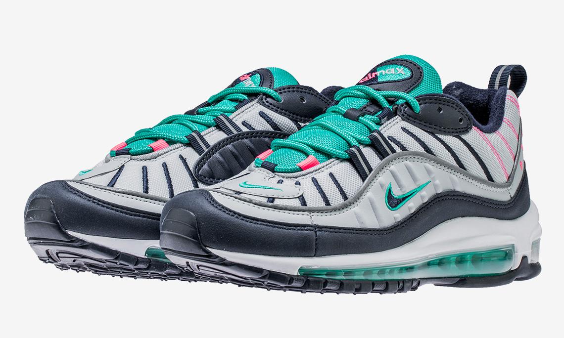 """Nike 将经典的 """"南海岸"""" 配色移植到了 Air Max 98 上"""