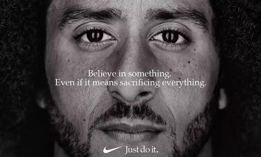 "Colin Kaepernick 成为 Nike ""Just Do It"" 30 周年形象大使"