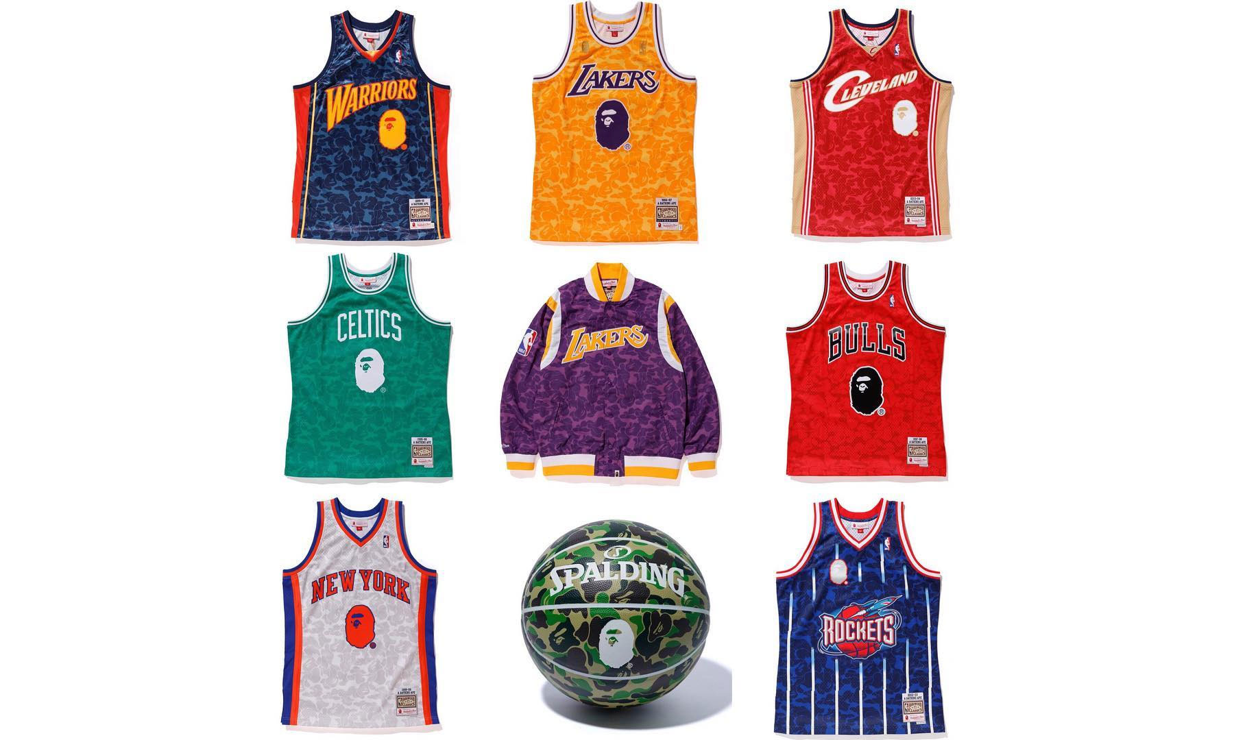 6b7fd0b77ff A BATHING APE® x Mitchell & Ness 联名发售全览– NOWRE现客