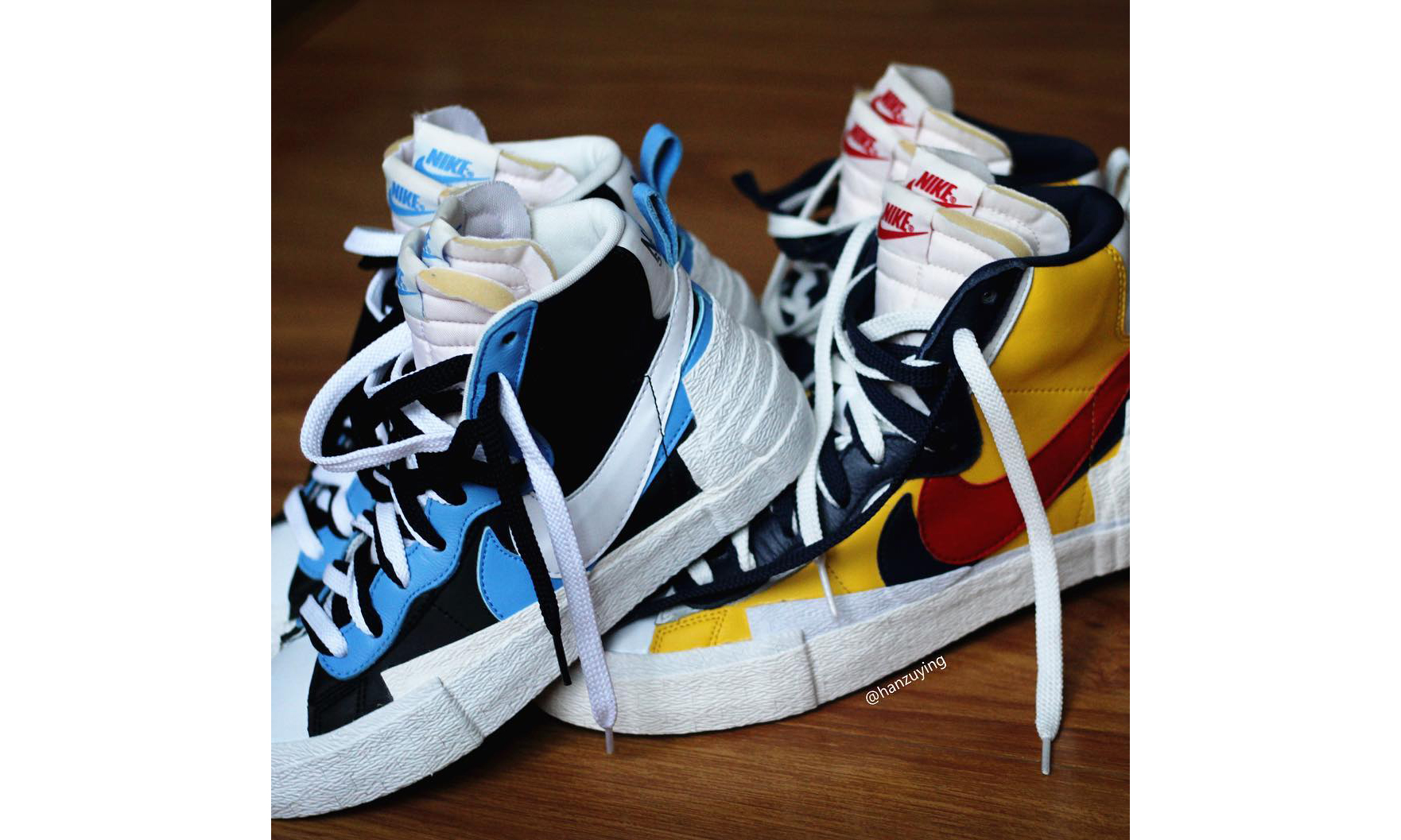 "近赏 sacai x Nike 联名 ""Blazer with Dunk"""