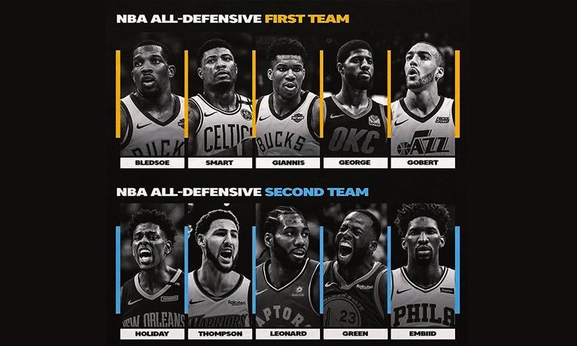 NBA 官方最佳防守阵容公布,争议依旧