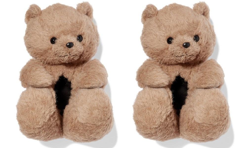 """售价高达 990 美元,VETEMENTS 推出泰迪熊款 """"毛绒拖鞋"""""""