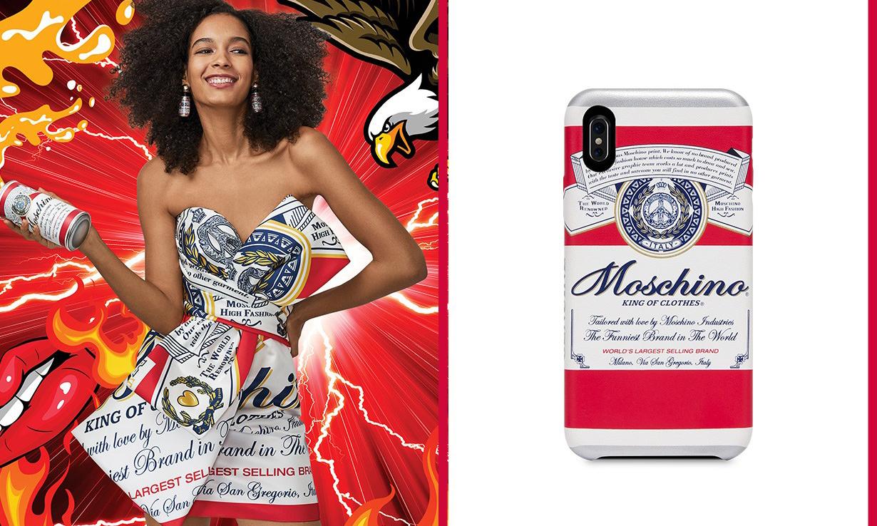 Moschino 与百威啤酒联乘,限量系列玩味十足