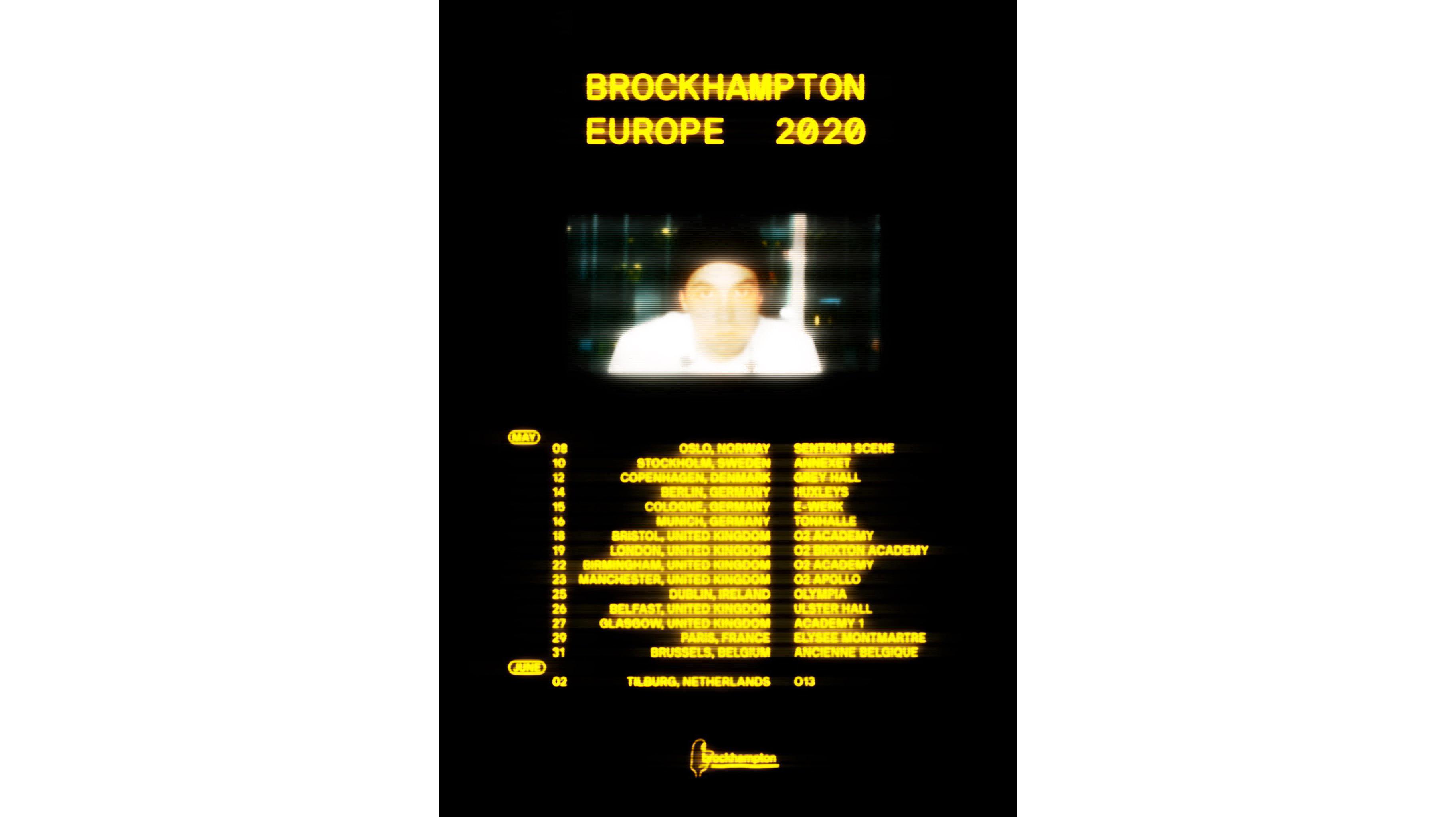BROCKHAMPTON 将开启新一轮欧洲巡演