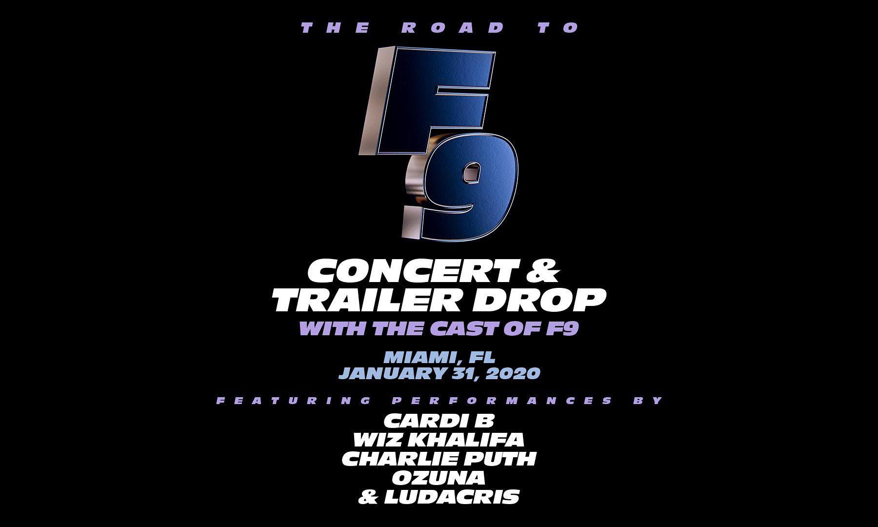 《速度与激情 9》将于 1 月 31 日举办演唱会