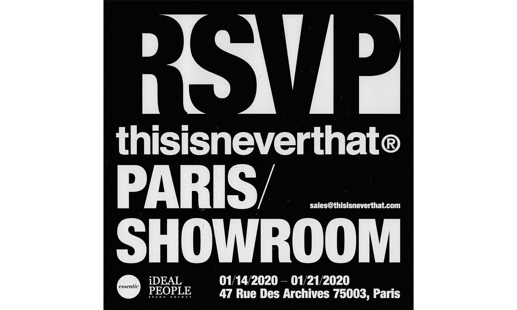 thisisneverthat 巴黎 Showroom 现已开放预约