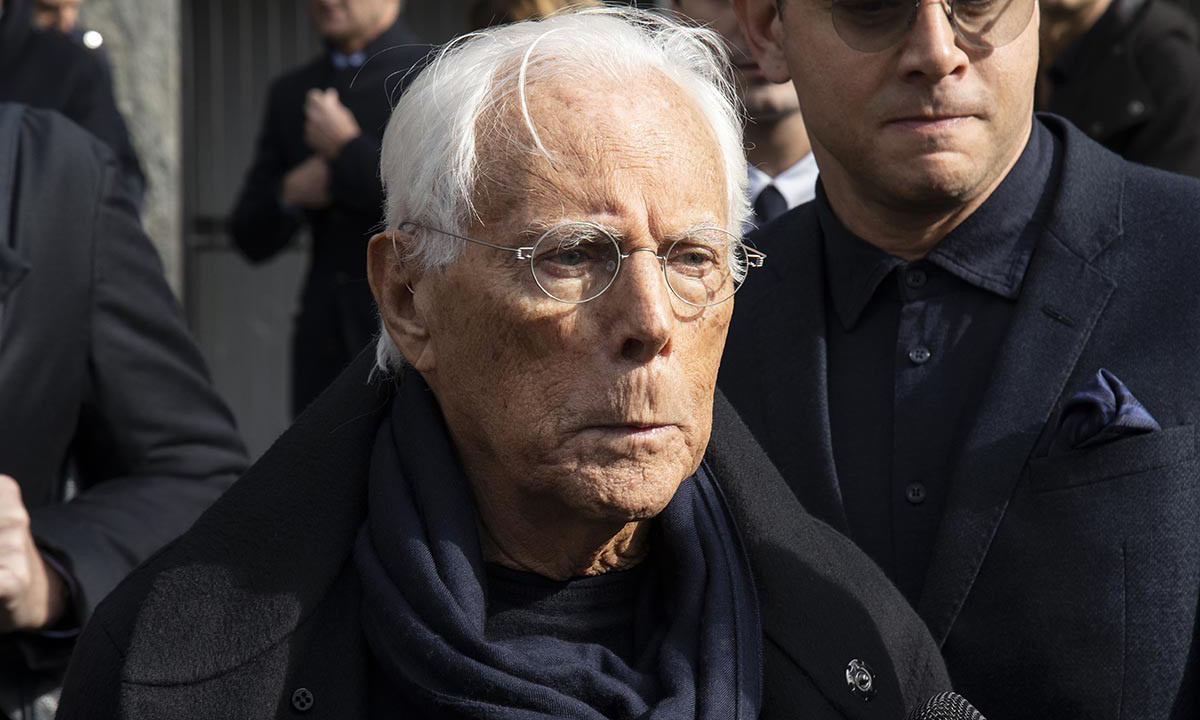 Giorgio Armani 为意大利疫情捐赠 125 万欧元