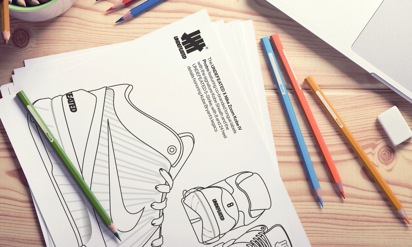 UNDFTD x Nike Zoom Kobe IV Protro 配色,你说了算