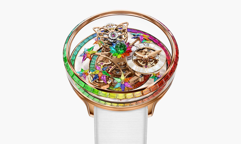 彩虹色调,Jacob&Co. 推出全新 Fleurs de Jardin 腕表