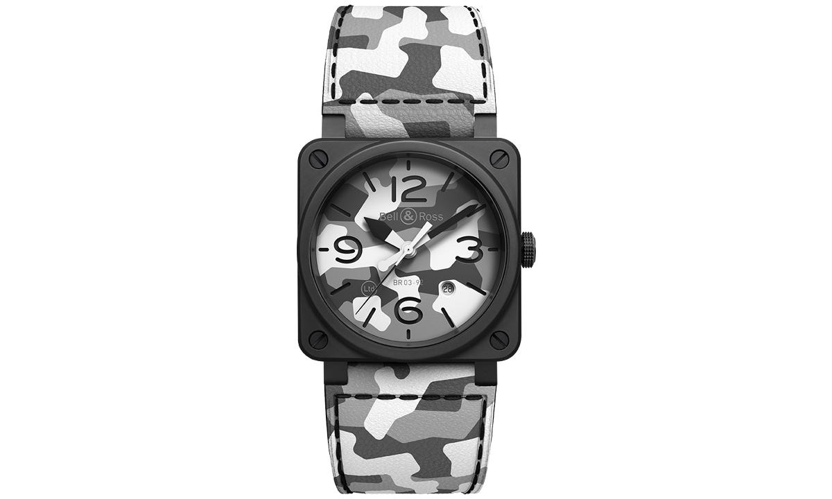 Bell&Ross 打造全新 BR 03-92 白色迷彩特别版腕表