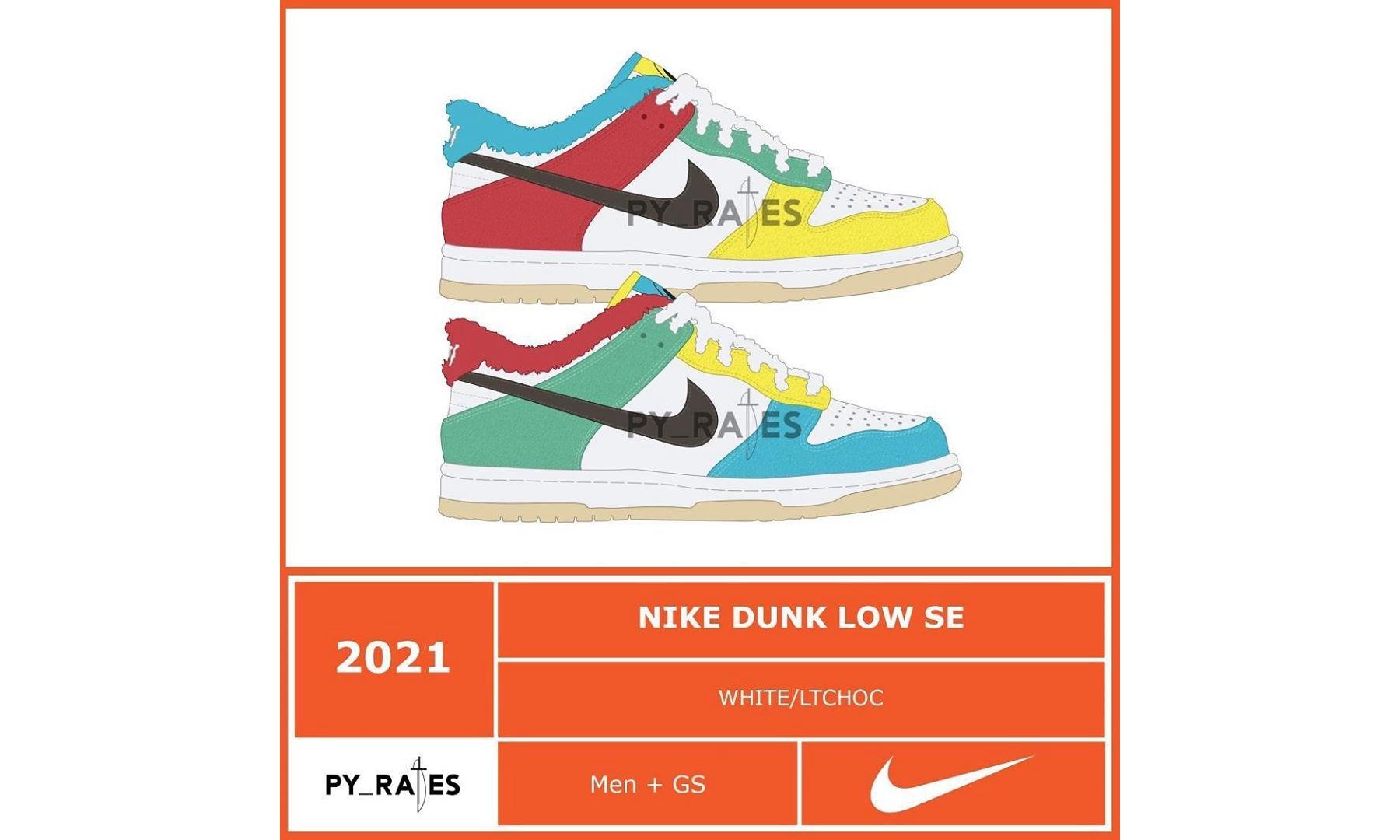 Nike Dunk Low SE「Free 99」系列设计首度曝光