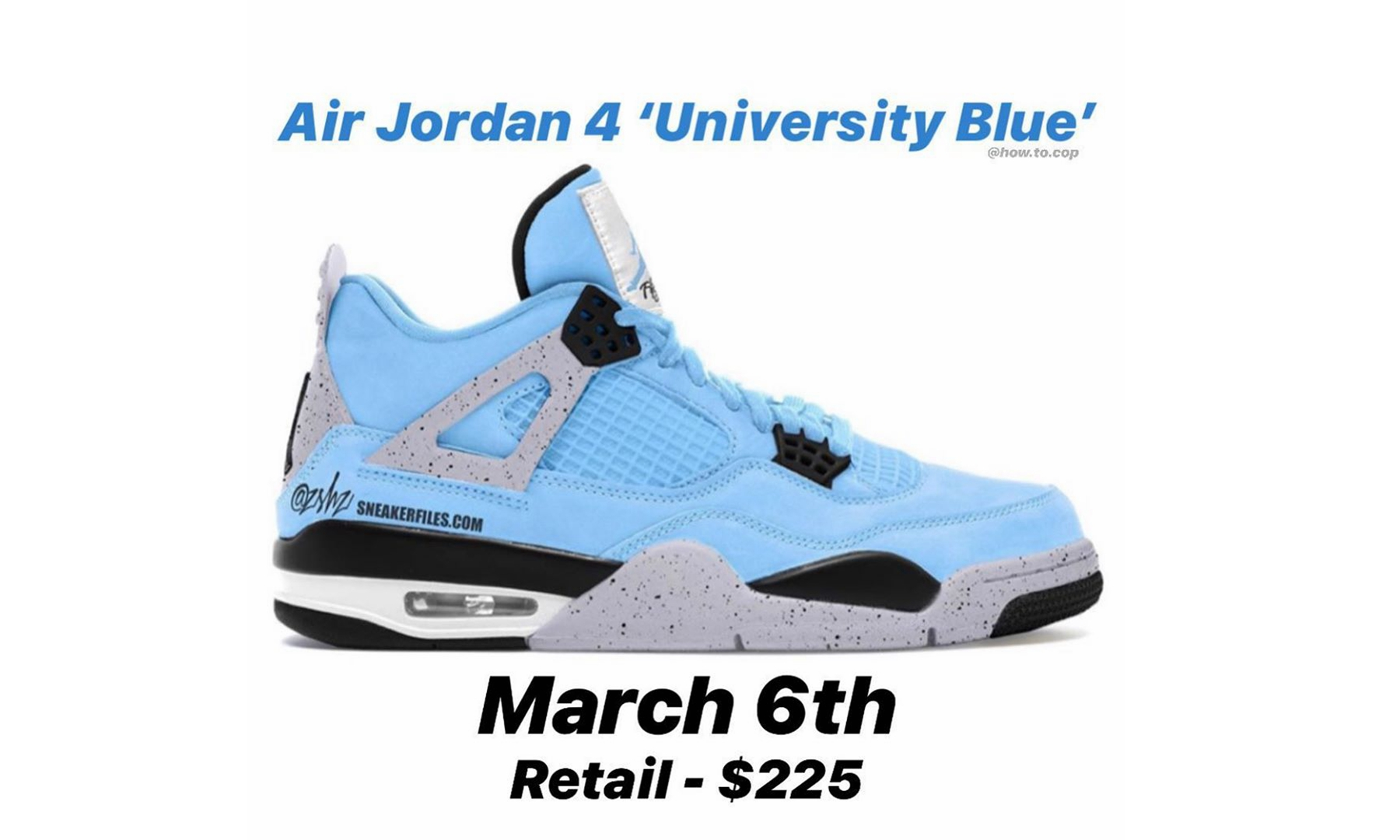 Air Jordan IV「University Blue」新配色发售日期确定