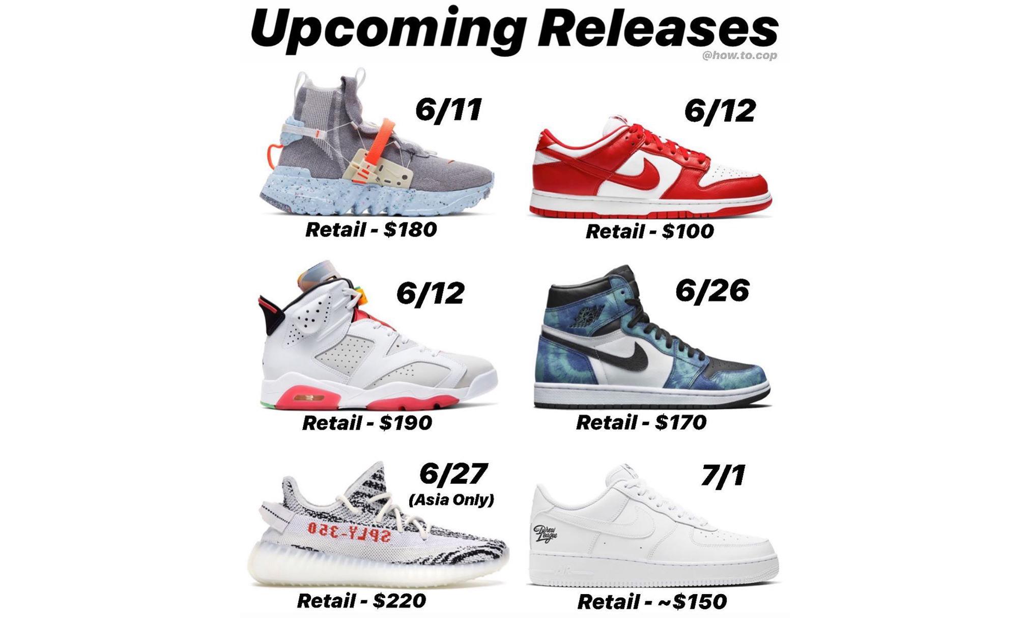 本月重磅鞋款发售一览