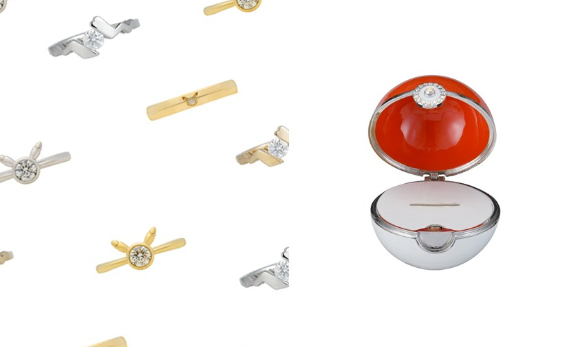 与珠宝品牌联名,Pokémon Company 推出皮卡丘系列婚戒
