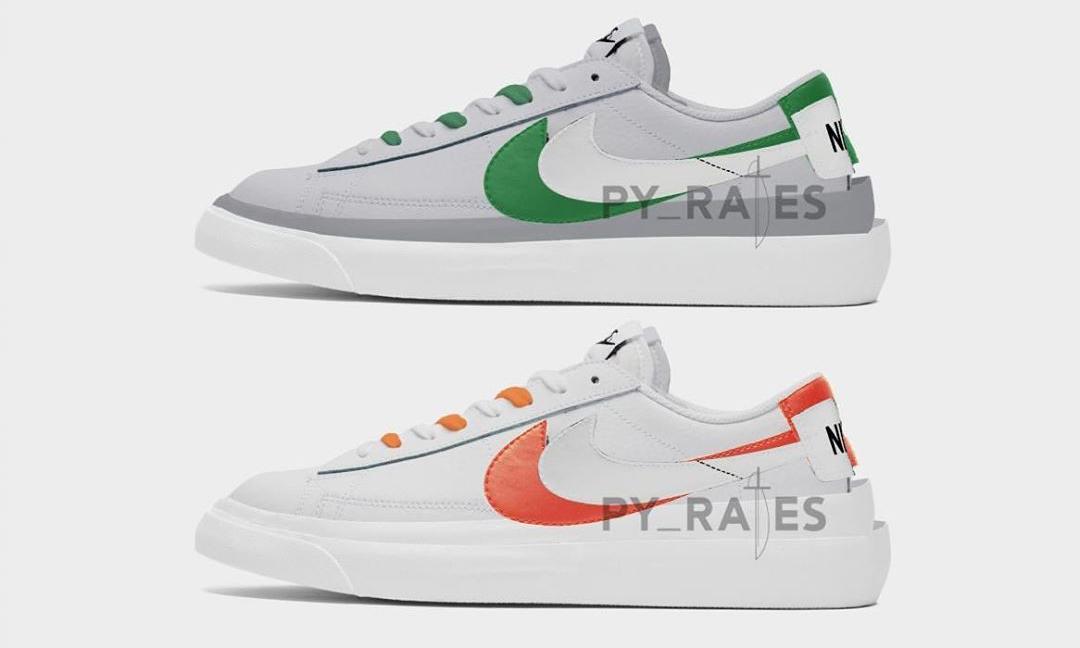 新设计登场,sacai x Nike Blazer Low 将于 2021 春季登场