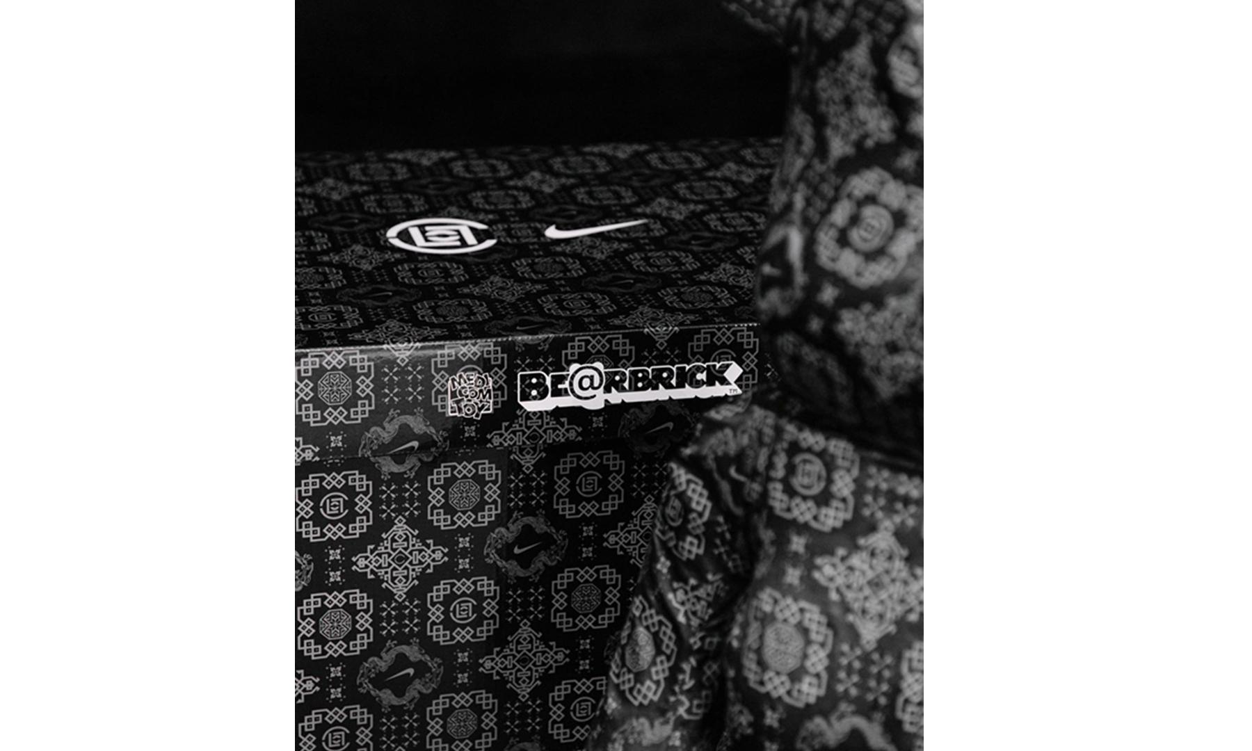 尺寸敲定,CLOT x Nike x MEDICOM TOY「黑丝绸」BE@RBRICK「官宣」