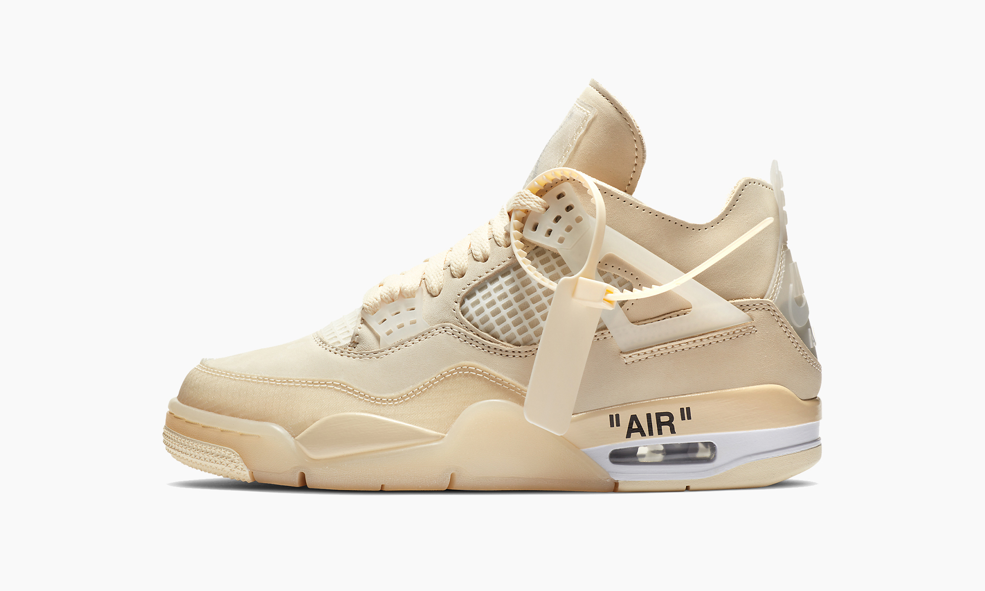 Off-White™ x Air Jordan IV「Sail」配色上架美国 SNKRS