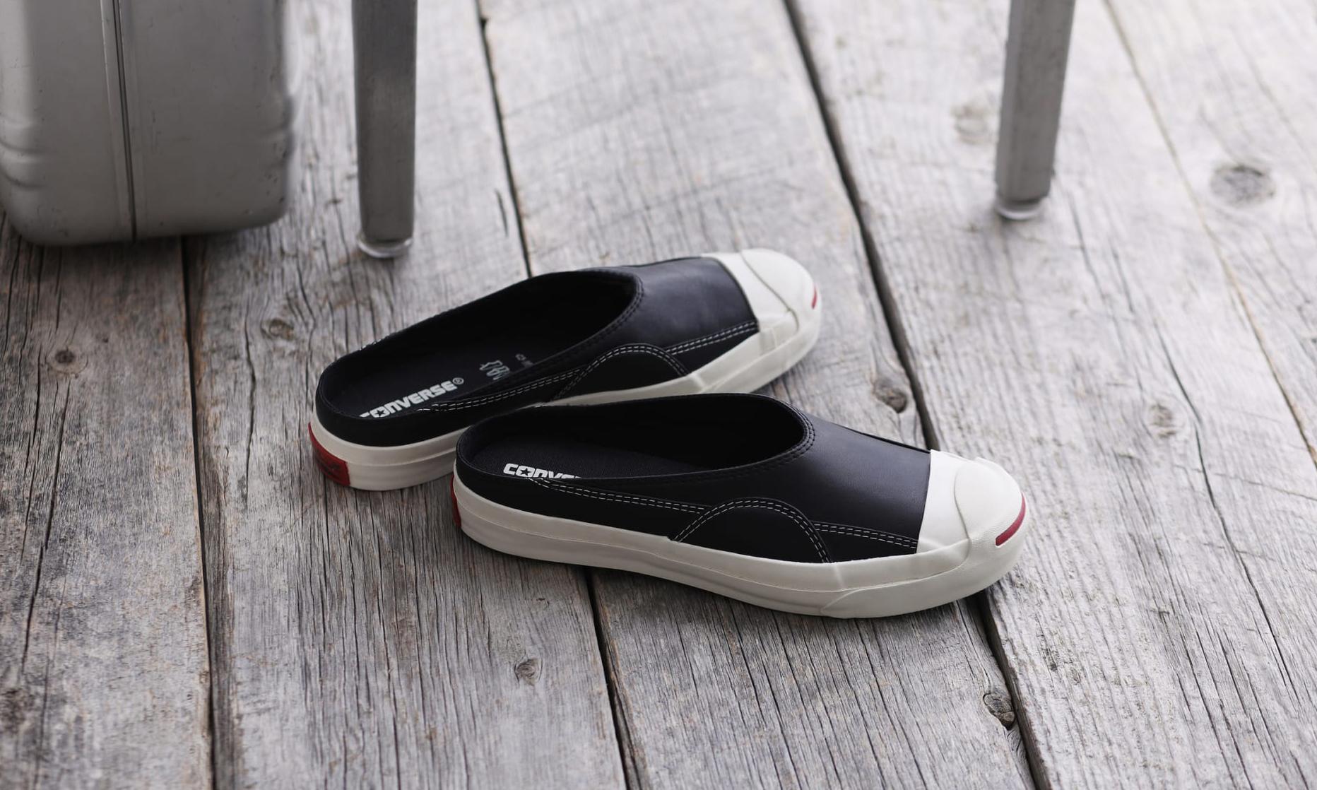 完美还原 1990 年代鞋型,CONVERSE Jack Purcell Ret Mule Leather 登场