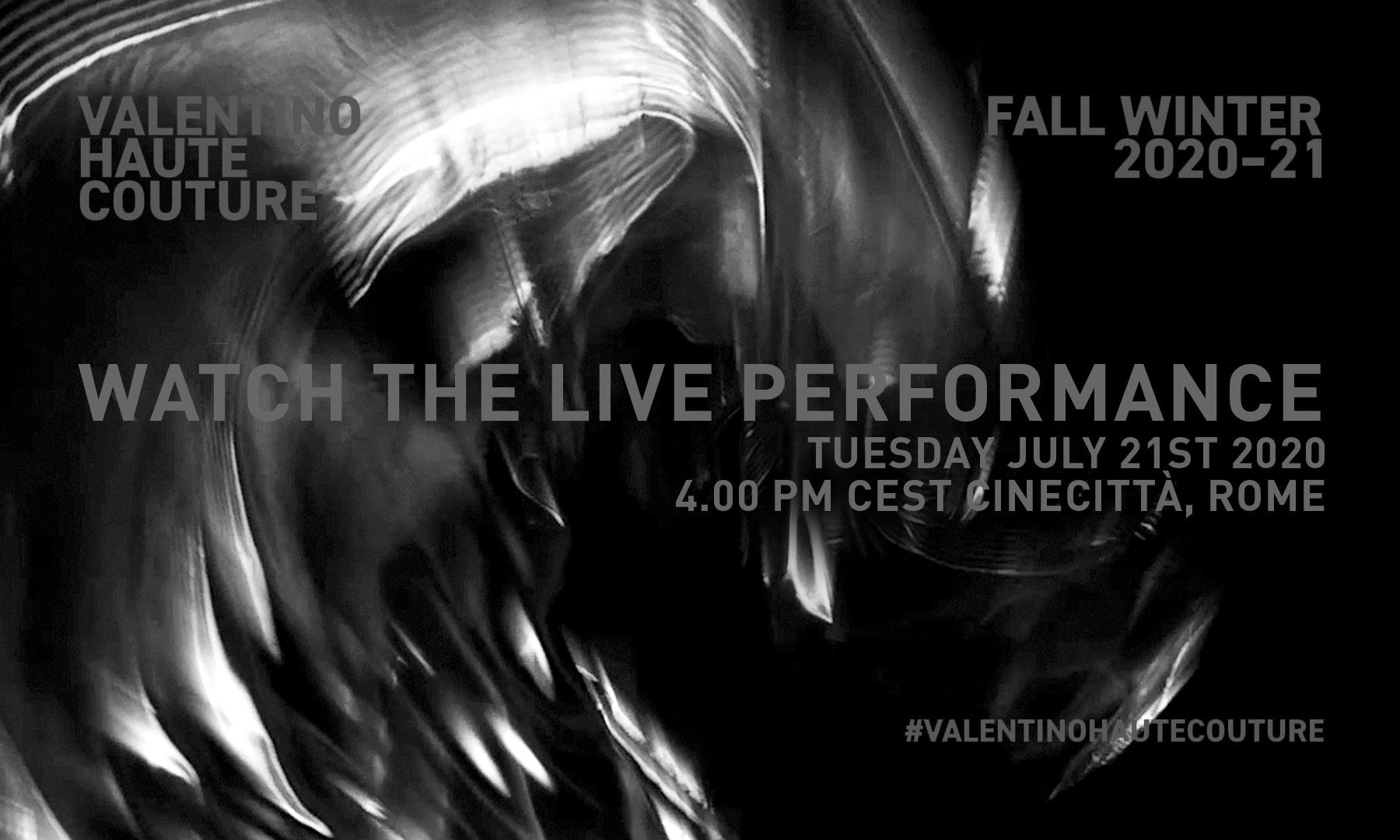Valentino 秋冬高定大秀将于今晚直播上线
