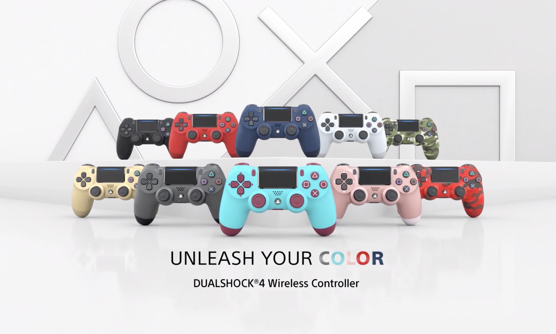 缤纷色彩,索尼带回粉丝们喜爱的 DualShock 4 手柄配色