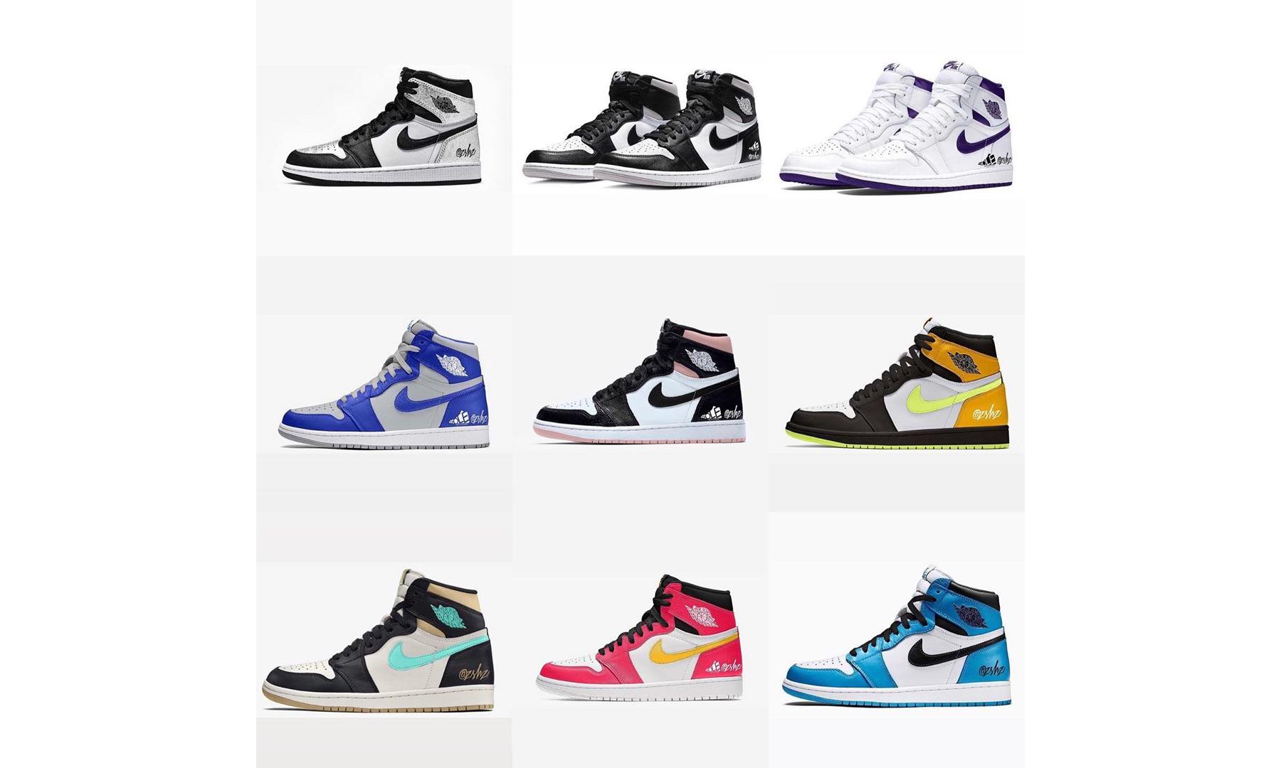 抢先预览将在明年发售的多款 Air Jordan I