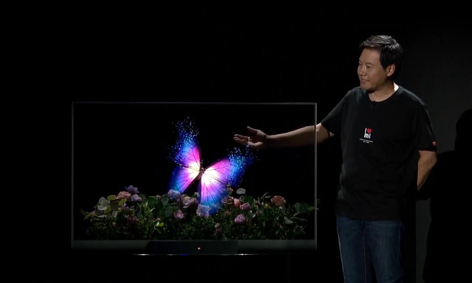 小米发布全球首款量产透明电视机