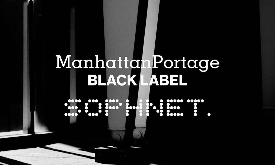 SOPHNET. x Manhattan Portage BLACK LABEL 合作系列正式发布