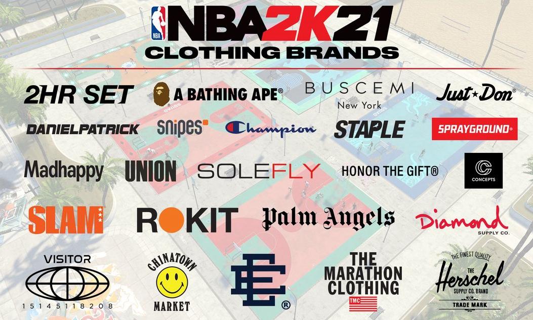 《NBA 2K21》潮流单位合作名单正式公开