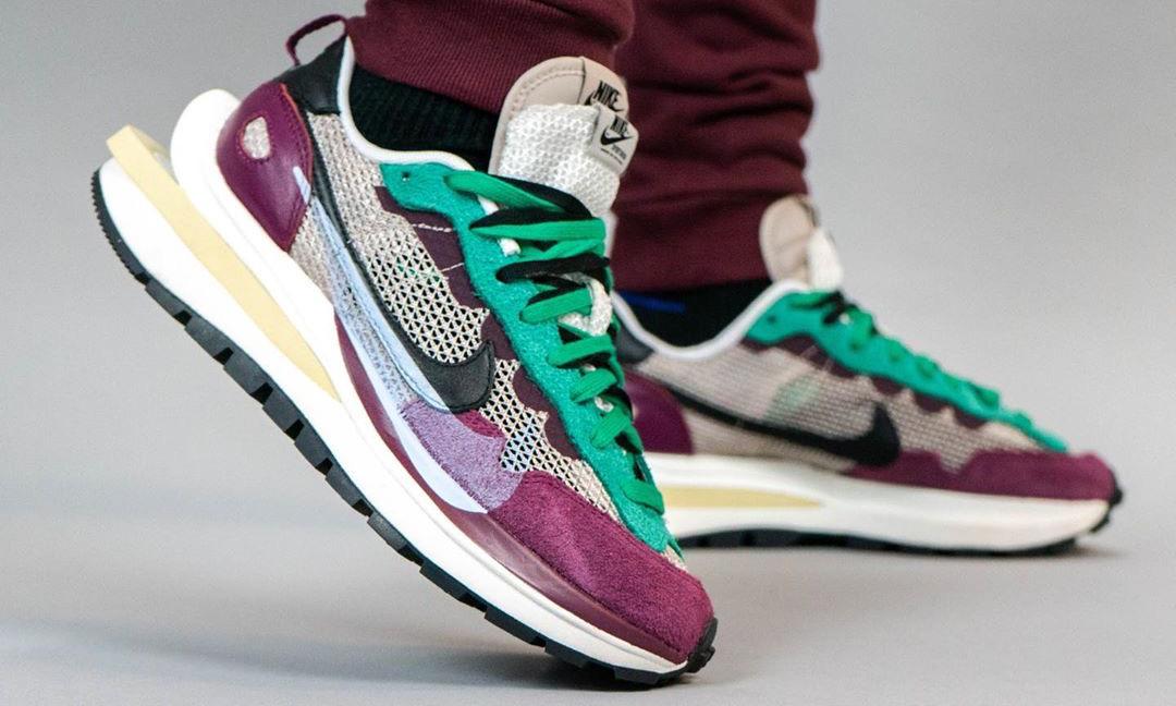 复古气质,sacai x Nike Vaporwaffle 上脚近赏