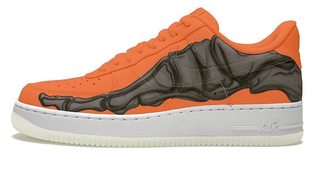 万圣节主题,Nike Air Force 1 Skeleton 「Brilliant Orange」发售日期确定