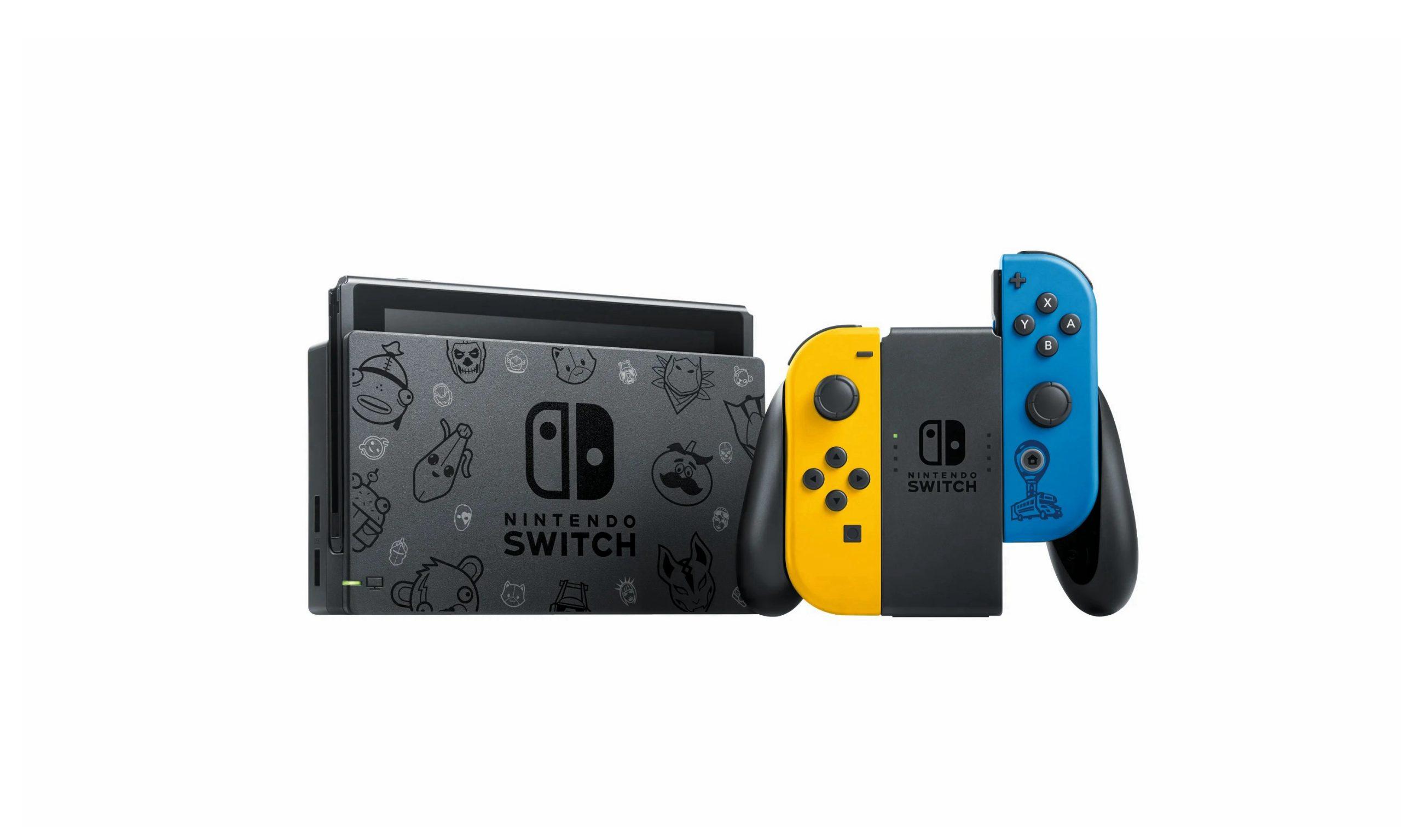 Nintendo 任天堂将推出《堡垒之夜》限定版 Switch 游戏主机