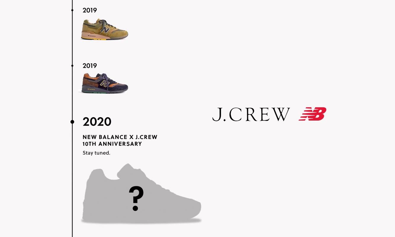 J. Crew 预告与 New Balance 合作 10 周年纪念款