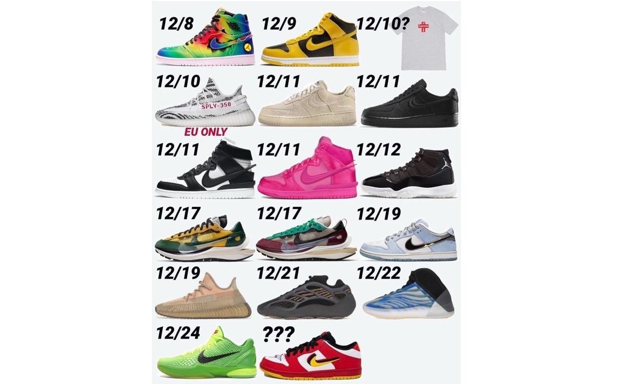 重磅来袭,12 月即将发售鞋款一览
