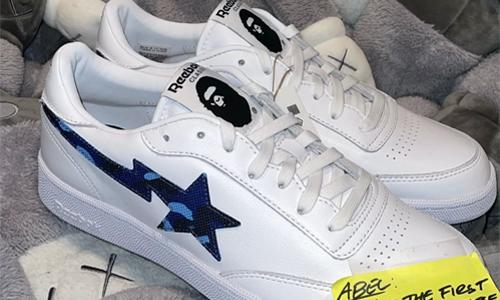 A BATHING APE® x Reebok Club C 联名鞋款提前释出