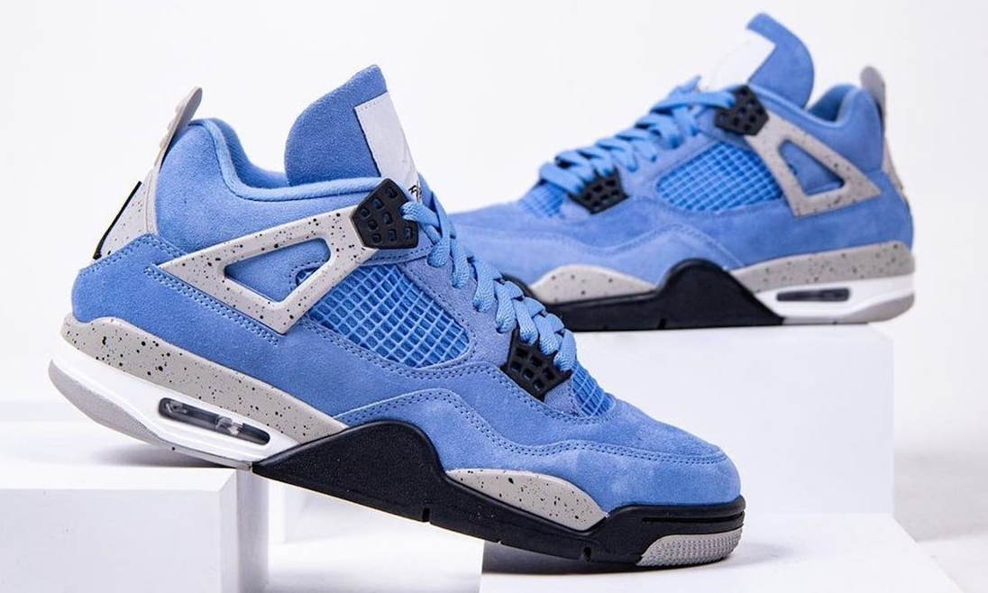 Air Jordan IV「University Blue」细节近赏