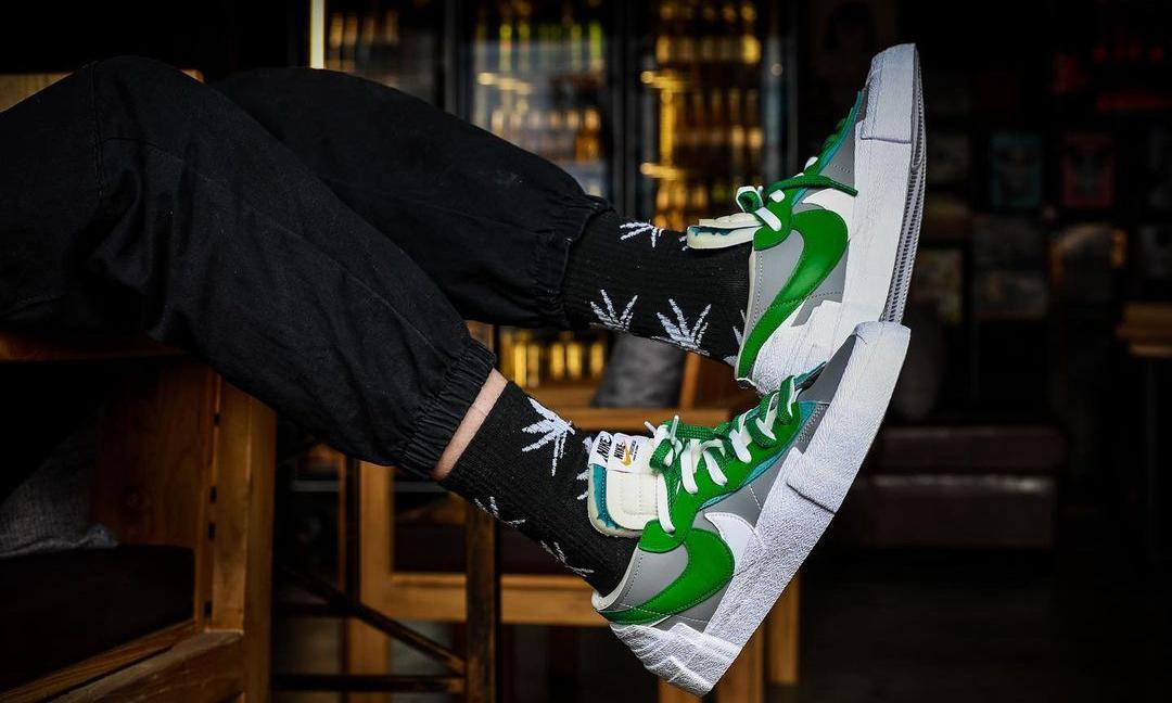 sacai x Nike Blazer Low 双色上脚预览出炉