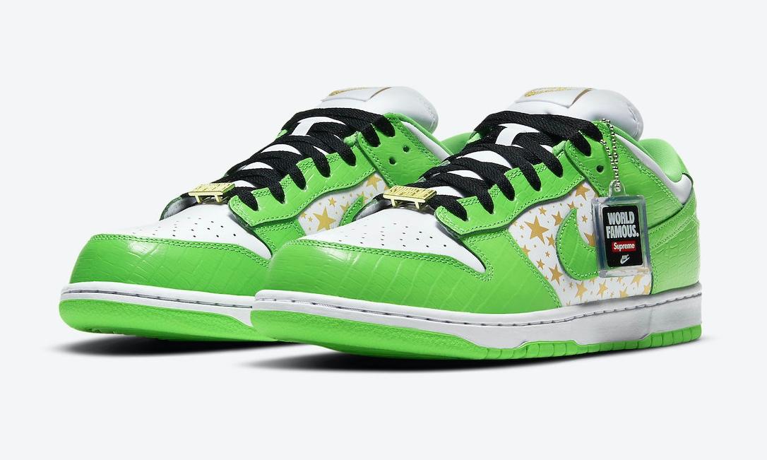 Supreme x Nike SB Dunk Low「Mean Green」官图释出