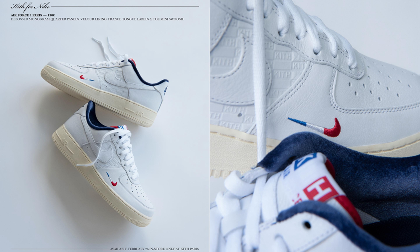 KITH 推出巴黎门店限定 Nike Air Force 1