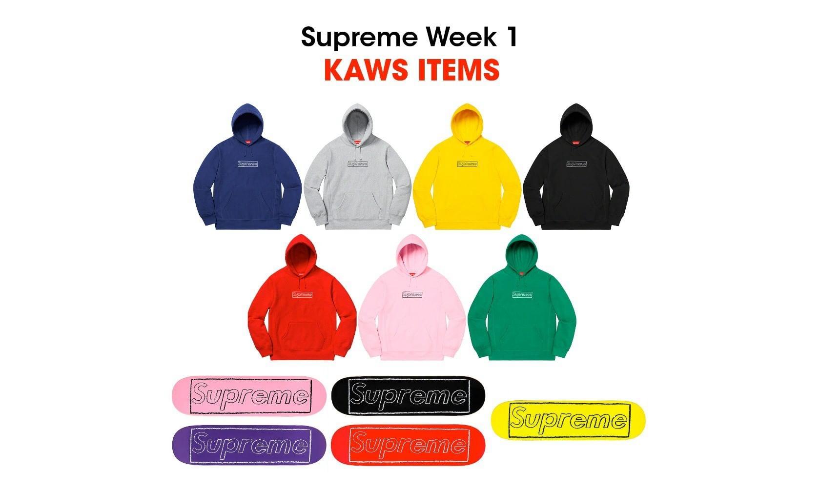 Supreme x KAWS 合作系列首度公开